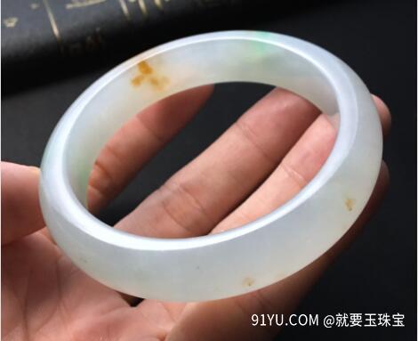 冰种黄加绿翡翠手镯.jpg