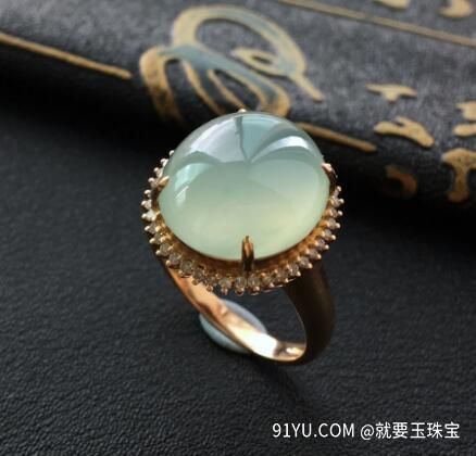 冰种晴水翡翠镶玫瑰金钻石戒指.jpg