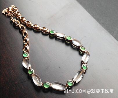玻璃种莹光18K金天然翡翠手链.jpg