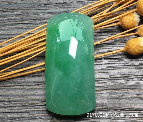 冰糯种满绿天然翡翠裸石1.jpg