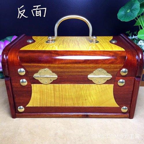 (品名)百宝首饰盒(材质)血檀第2张