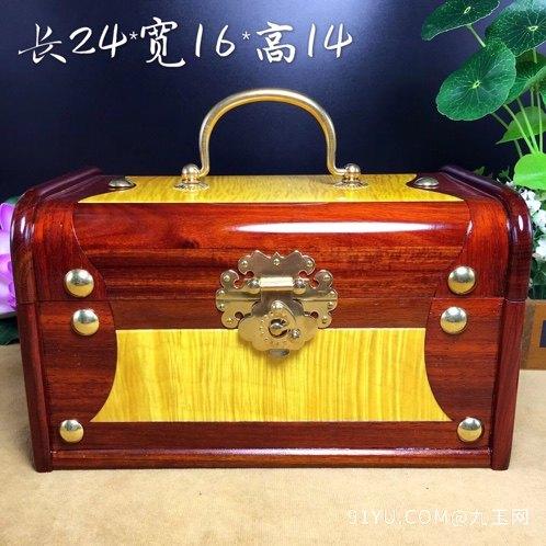 (品名)百宝首饰盒(材质)血檀第1张