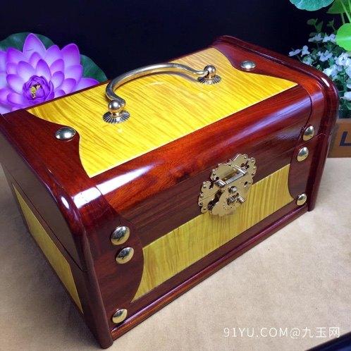 (品名)百宝首饰盒(材质)血檀第5张