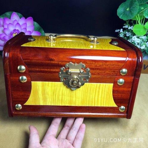 (品名)百宝首饰盒(材质)血檀第7张