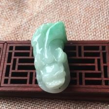 缅甸翡翠a货貔貅貔貅挂件