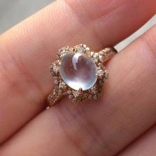 豪华镶玻璃种翡翠戒指