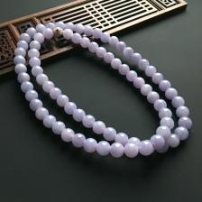 A货翡翠紫罗兰项链