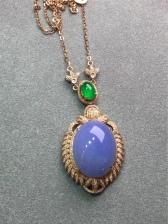 缅甸翡翠紫罗兰项链
