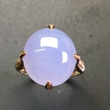紫罗兰翡翠戒指