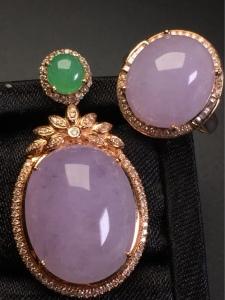 紫罗兰套装吊坠+戒指