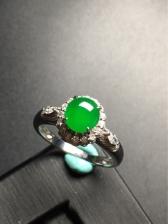 18K金镶嵌浓绿戒指
