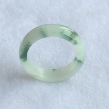 冰糯种飘花戒指环