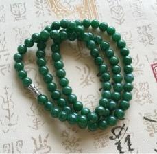 满绿翡翠项链