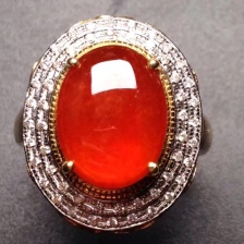 红翡翠戒指