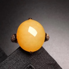 黄翡大蛋戒指