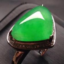 冰阳绿水滴戒指