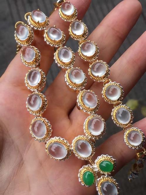 铜托玻璃种项链手链