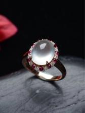 A货翡翠玻璃种戒指