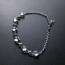 18k金镶嵌玻璃种翡翠手链
