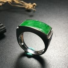 马鞍翡翠戒指
