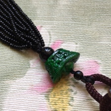 A货翡翠满绿元宝吊坠