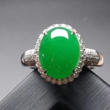 18k金镶嵌帝王绿戒指
