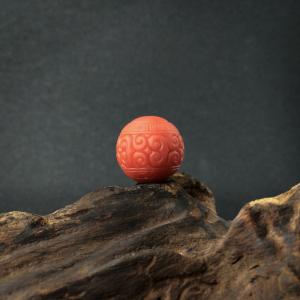 柿子红南红回纹珠