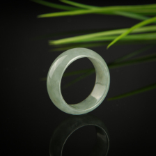 糯冰种翡翠戒指