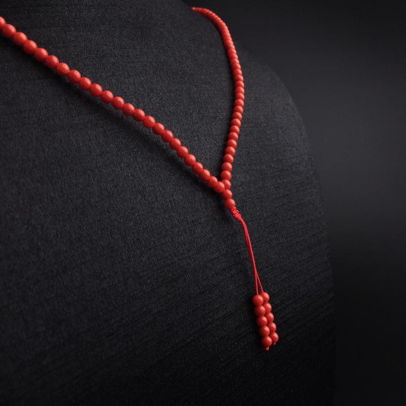 3.5mm沙丁红珊瑚佛珠两用款第3张