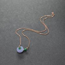 糯种紫罗兰翡翠项链