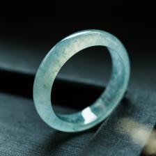 56.5mm冰种蓝水翡翠手镯