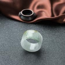 糯冰种黄加绿翡翠指环