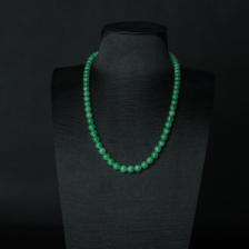 糯种阳绿翡翠项链