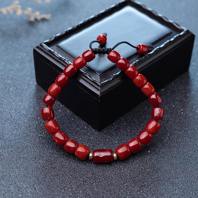 阿卡牛血红珊瑚桶珠单圈手串第4张