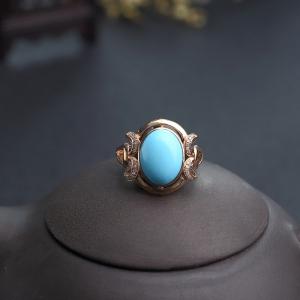 18K金镶钻原矿美松戒指
