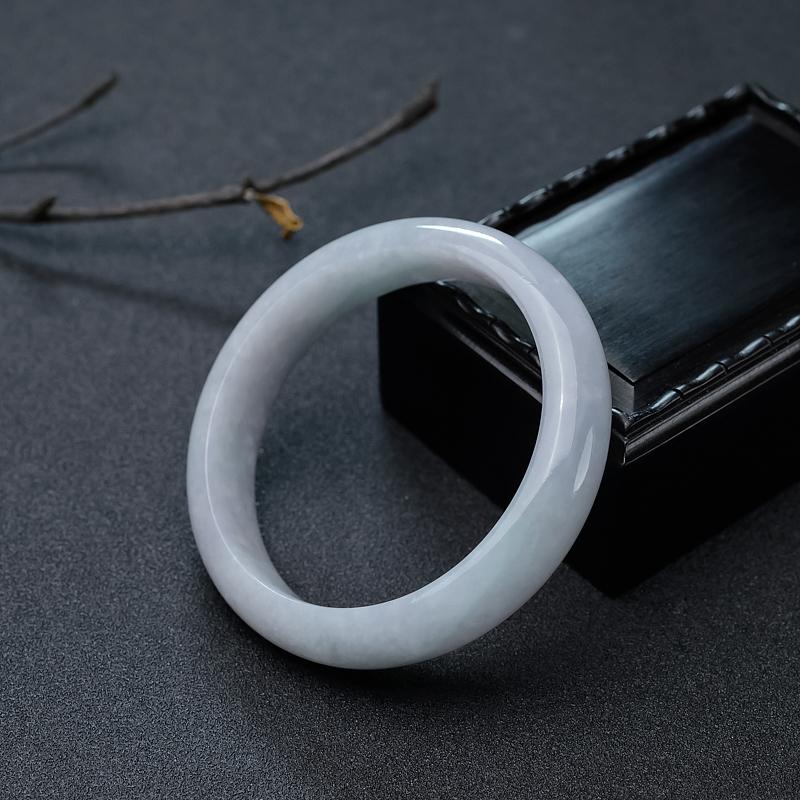 58.5mm糯种翡翠平安镯第1张