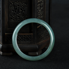 57mm糯种蓝水翡翠手镯
