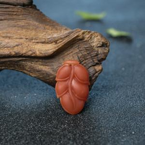 柿子红南红叶子吊坠