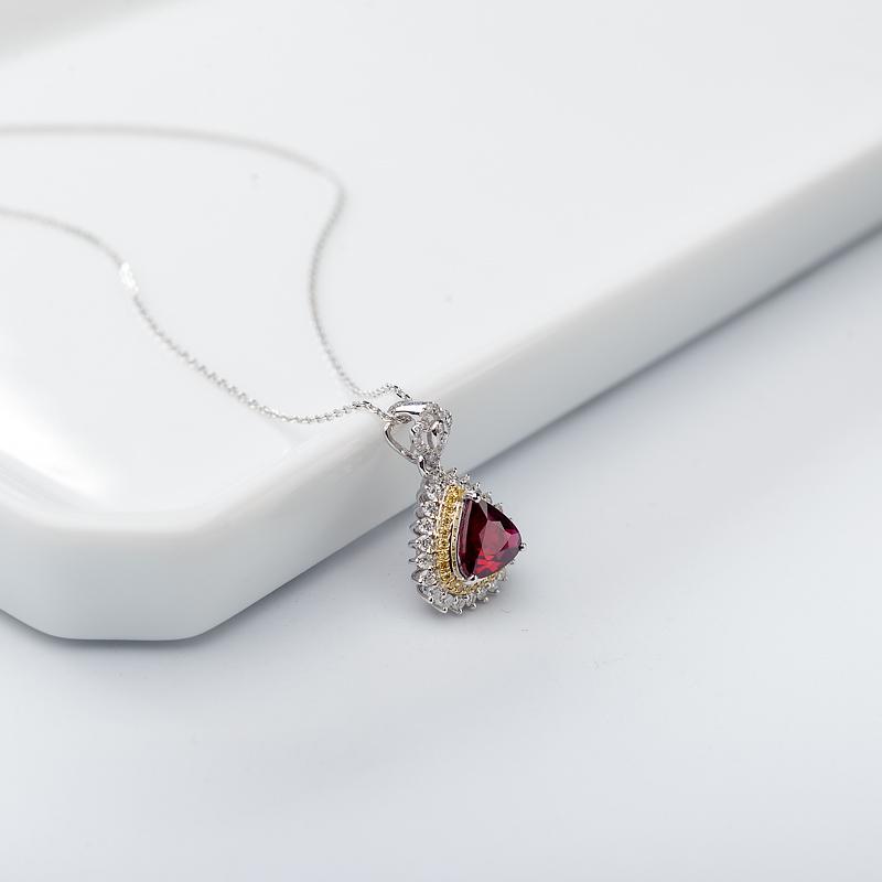 18K鸽血红红宝石项链第3张