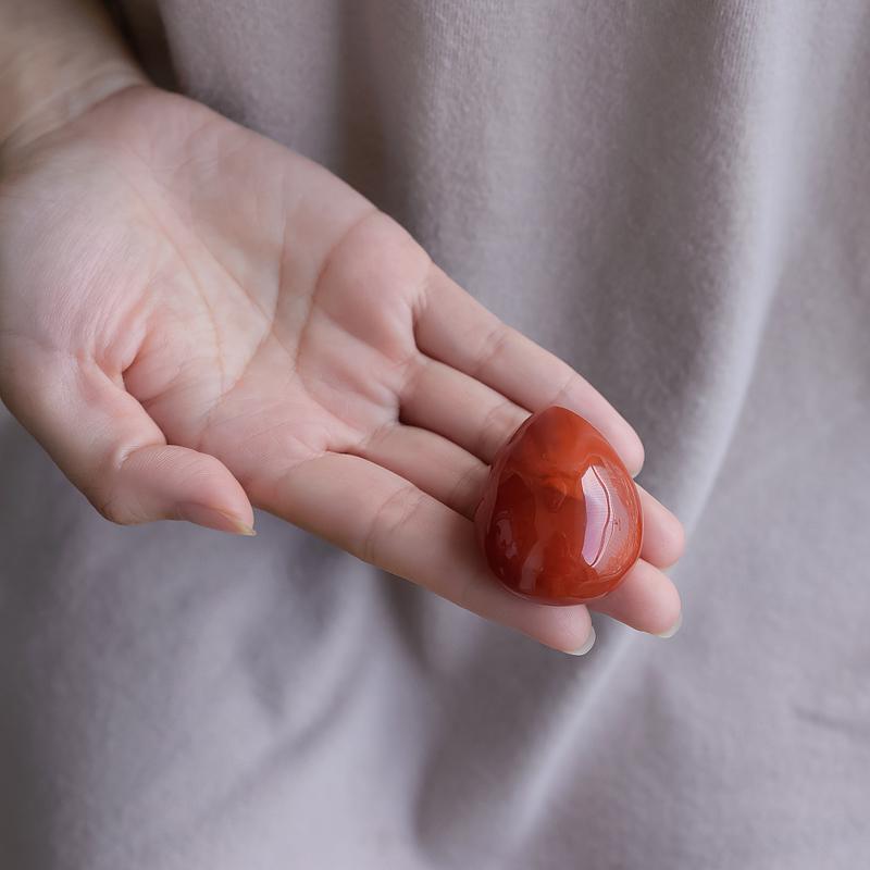 柿子红南红水滴吊坠第7张