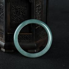 58.5mm糯种蓝水翡翠手镯