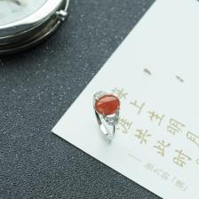 18K糯冰种红翡翡翠戒指