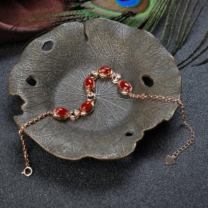 18K阿卡牛血红珊瑚手链