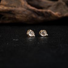 18k玻璃种翡翠耳钉