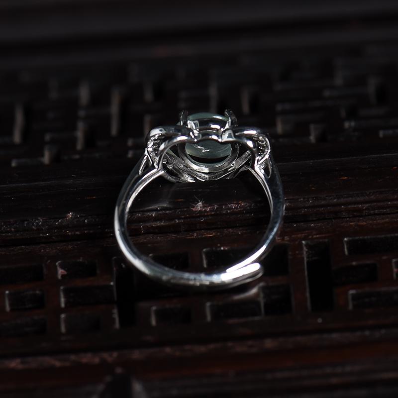 银镶冰种翡翠戒指第4张