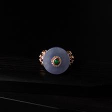 18K镶紫罗兰翡翠戒指