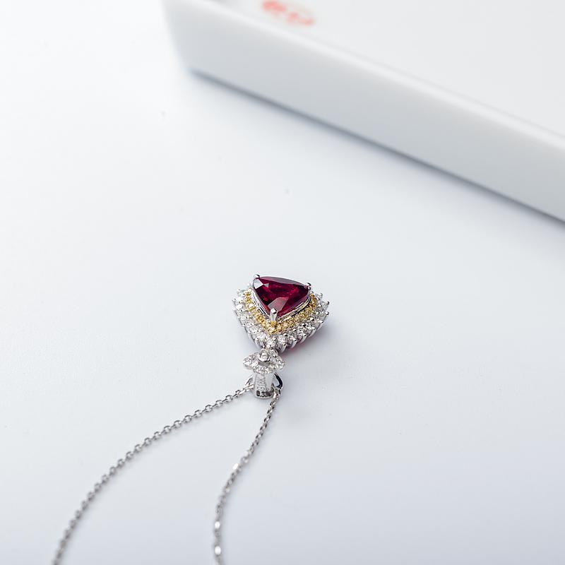 18K鸽血红红宝石项链第6张