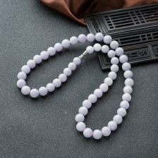 10mm糯种紫罗兰翡翠项链