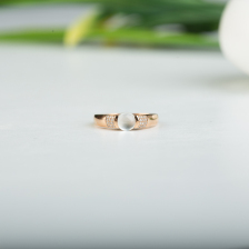 18k玻璃种随形翡翠戒指