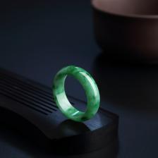 糯种飘翠翡翠指环